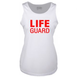 LADIES LIFE GUARD WHITE COOLTEX VEST